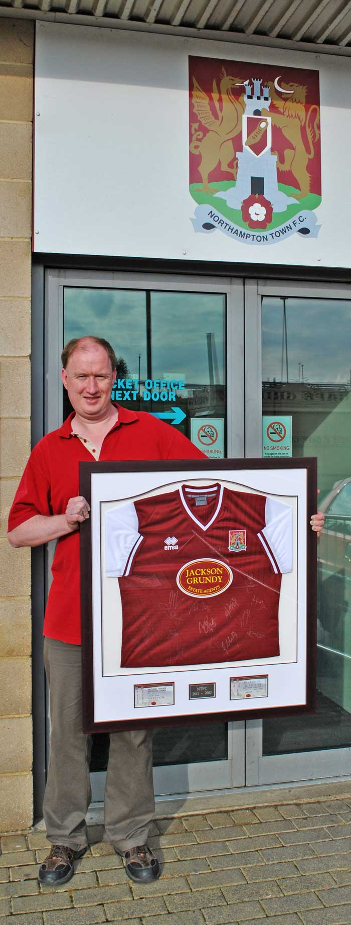 NTFC framed football shirt